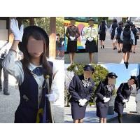 制服バスガイドのタイトスカートの密着感重視の街撮り画像パスワード0805