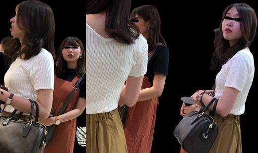 素人街撮り46 超美人JDさんのニットお○ぱい(二人組女子大生) NEW