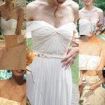 新婦さん06 ドレスが下がって胸元危うい花嫁さん NEW