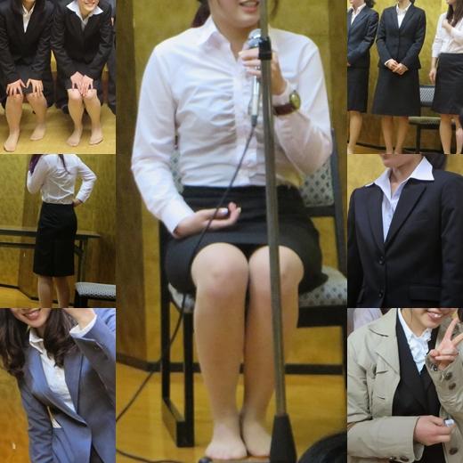 働くOLさん17 リクルートスーツの初々しい女子達 NEW