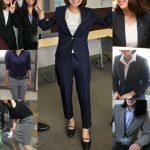 働くOLさん14 美人な女子社員さんはレディーススーツが似合いすぎ NEW