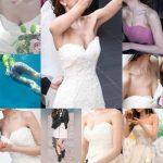 新婦さん02 結婚披露宴で谷間を見せ続ける美人新婦さん NEW