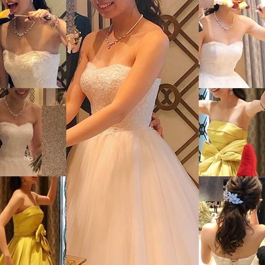 新婦さん38 ドレスが下がり乳首まで近めな花嫁さん